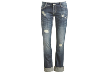 Saddle stitch roll cuff jean from WetSeal.com, $29.50