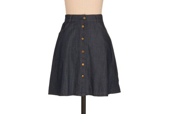Boomtown denim skirt from ModCloth.com, $36