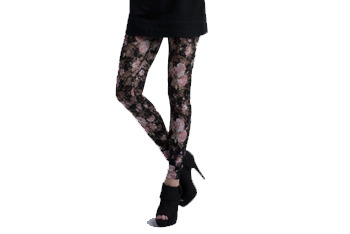 Floral print lace leggings from CharlotteRusse.com, $16.50