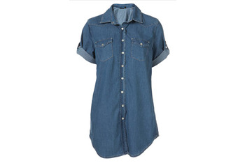 70s denim short sleeve shirt from Topshop, $55