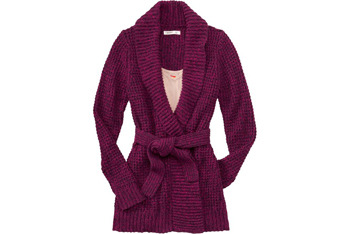 Long tie-belt wrap cardigan from OldNavy.com, $49.50