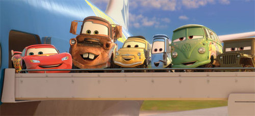 Lighting McQueen and the Gang