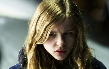 Chloë starred as a teen vampire in the American remake of Let Me In, originally a hit underground Swedish film