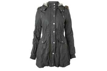 Grey PU parka, $95, at Miss Selfridge