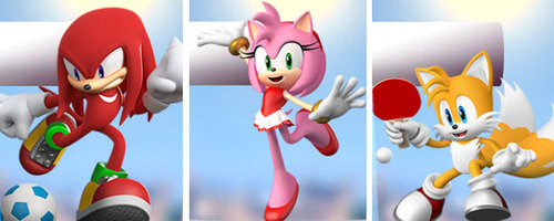 Knuckles, Amy and Tails