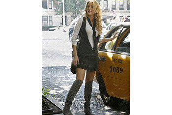 Serena sports knee-high boots in all types of weather