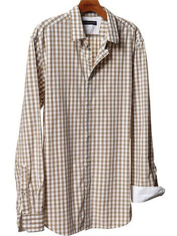 This light collared gingham shirt is $59.50 at Banana Republic