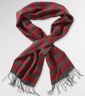stripey scarf, $38.00 at Levis