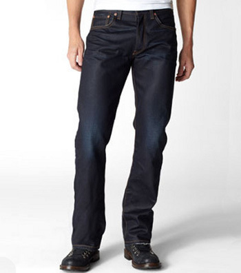 Slim fit straight leg dark wash Levis like these are perfect for a casual yet smart holiday look, $98.00