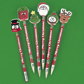Hope for some fun, festive pencils peaking out of your stocking