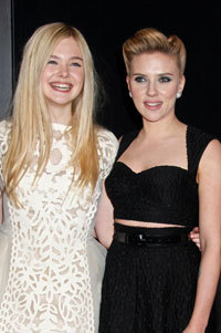 Ella and Scarlet at the premiere