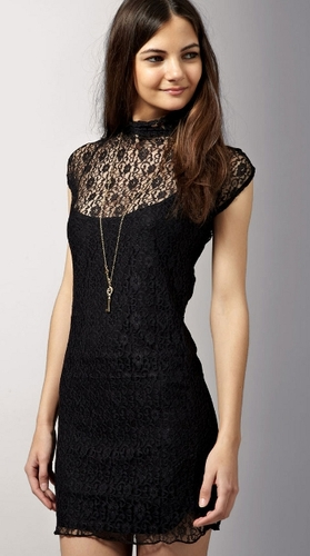 A black cocktail dress in a fancy fabric (like lace or velvet) will make a statement wherever you go