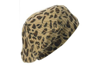 Leopard beret, $8, at NEWLOOK.com