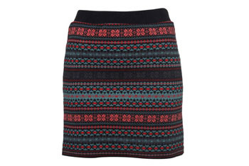 Fairisle knit tube skirt, $35, at MISS SELFRIDGE