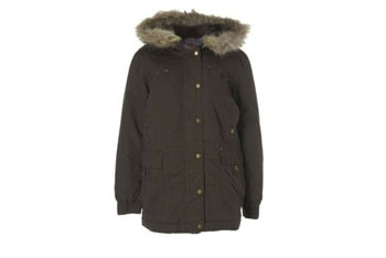 Furry hooded parka, $20, at NEWLOOK.com