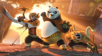Po and the Kung Fu gang!