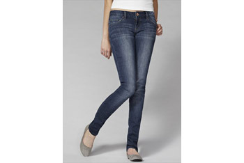 Love Story Blue super skinny jeans, $15, at Garage Clothing