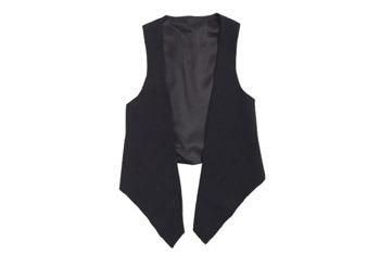 Anastasia black vest, $14.99, at Delias.com