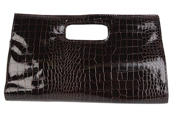 Patent croco clutch, $10.80, at Forever21.com