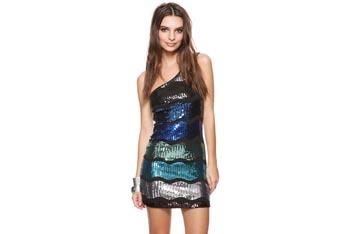 Shimmering one shoulder dress, $26.80, at Forever21.com
