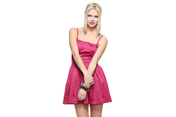 Satin woven dress, $21.80, at Forever21.com