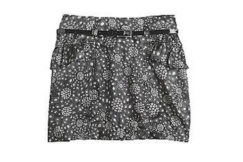 Black and white skirt, $14, at KMart