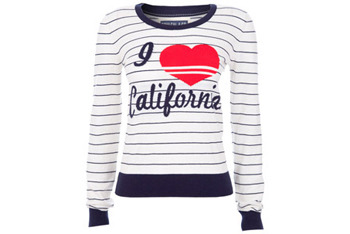Love Cali sweater, $35, at Republic.co.uk