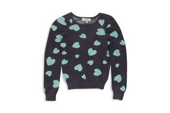 Heart knit sweater, $11.80, at Forever 21