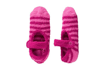 Chenille Mary Jane slippers, $5, at Old Navy