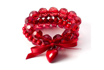 Red stretch bracelets, $5, at Claire's Accessories