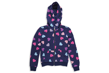 Colorful hearts hoodie, $11.80, at Forever 21