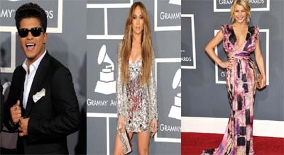 Bruno Mars, Jennifer Lopez, Julianne Hough