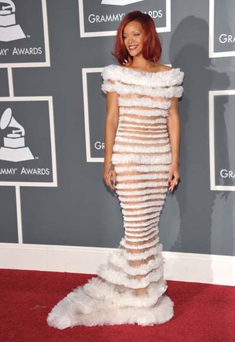 Rihanna's dress was too peek-a-boo for our taste