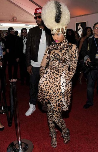 Nicki Minaj looked liked a leopard Elvira