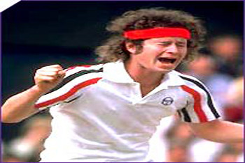John McEnroe's terrible temper