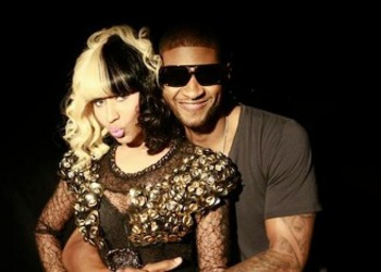 Nicki gets a hug from heartthrob Usher!