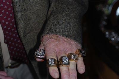 Five of the Steelers' Super Bowl Rings