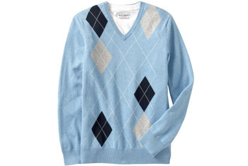 Men's V-neck Argyle Sweater, Old Navy, $29.50