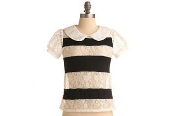 Delicate contrast top, $34.99, at ModCloth.com