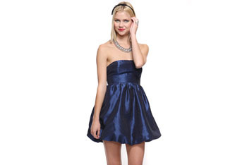Blue bubble dress, $29, at Forever21.com