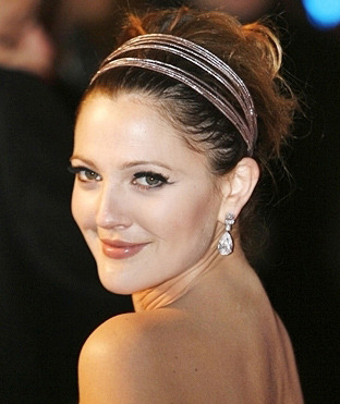 Drew Barrymore channels ballet style with her silver headbands