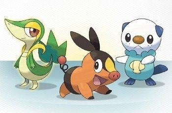 Snivy, Tepig, and Oshawott!
