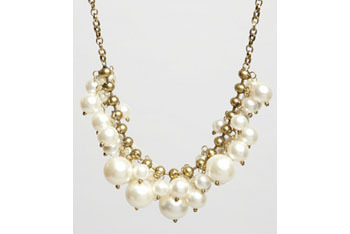 Pearly Holly necklace, $26, FredFlare.com