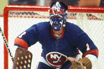 Chico Resch charges the Islanders comeback