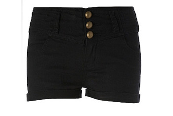 Black shorts, $20, MissSelfridge.com