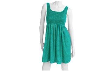Green smocked dress, $12, Walmart.com