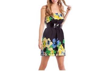 Ruffled belted dress, $16, Walmart.com