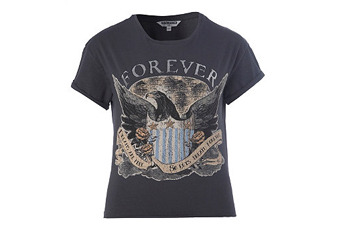 Forever Eagle t-shirt, $10, NewLook.com