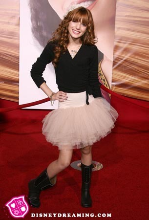 Rocking a ballet tutu skirt and boots