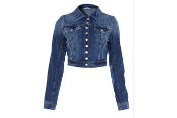 Cropped denim jacket, $25, Forever21.com